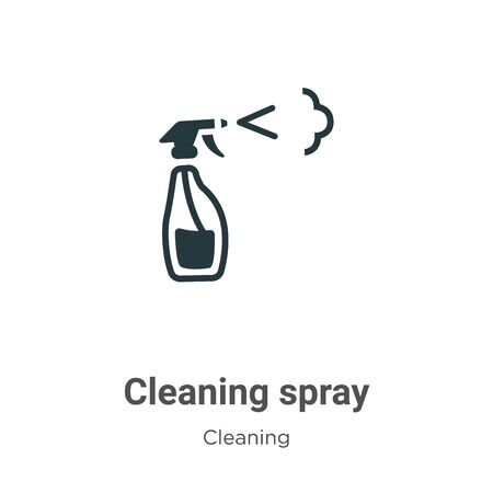 Cleaning spray vector icon on white background. Flat vector cleaning spray icon symbol sign from modern cleaning collection for mobile concept and web apps design. Ilustração