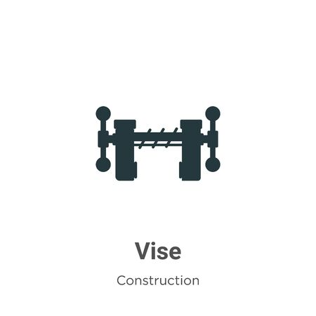 Vise vector icon on white background. Flat vector vise icon symbol sign from modern construction collection for mobile concept and web apps design.