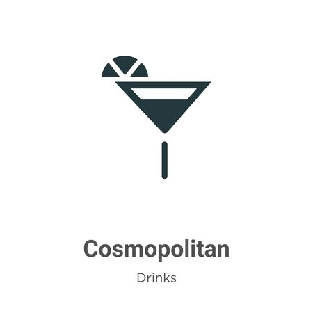 Cosmopolitan vector icon on white background. Flat vector cosmopolitan icon symbol sign from modern drinks collection for mobile concept and web apps design. Ilustração