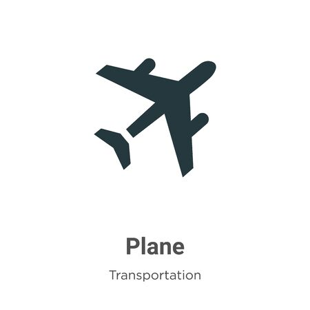 Plane vector icon on white background. Flat vector plane icon symbol sign from modern transportation collection for mobile concept and web apps design.