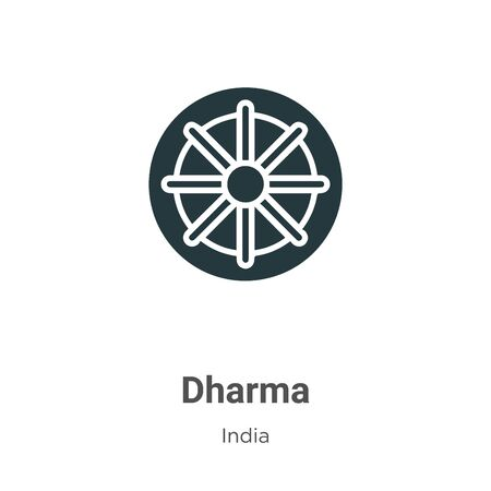Dharma vector icon on white background. Flat vector dharma icon symbol sign from modern india collection for mobile concept and web apps design.