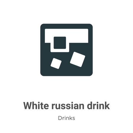 White russian drink vector icon on white background. Flat vector white russian drink icon symbol sign from modern drinks collection for mobile concept and web apps design.