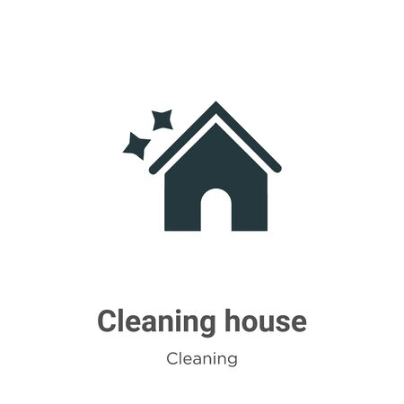 Cleaning house vector icon on white background. Flat vector cleaning house icon symbol sign from modern cleaning collection for mobile concept and web apps design.