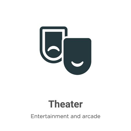 Theater vector icon on white background. Flat vector theater icon symbol sign from modern entertainment and arcade collection for mobile concept and web apps design.