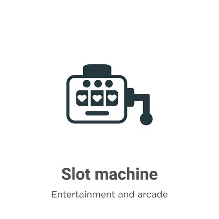Slot machine vector icon on white background. Flat vector slot machine icon symbol sign from modern entertainment and arcade collection for mobile concept and web apps design.