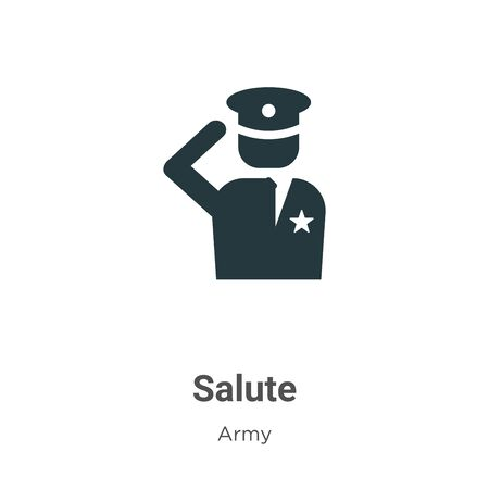 Salute vector icon on white background. Flat vector salute icon symbol sign from modern army collection for mobile concept and web apps design.