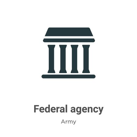 Federal agency vector icon on white background. Flat vector federal agency icon symbol sign from modern army collection for mobile concept and web apps design.