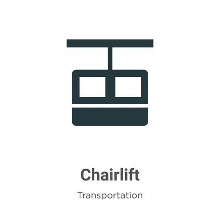 Chairlift vector icon on white background. Flat vector chairlift icon symbol sign from modern transportation collection for mobile concept and web apps design.