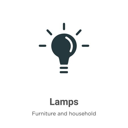 Lamps vector icon on white background. Flat vector lamps icon symbol sign from modern furniture and household collection for mobile concept and web apps design.