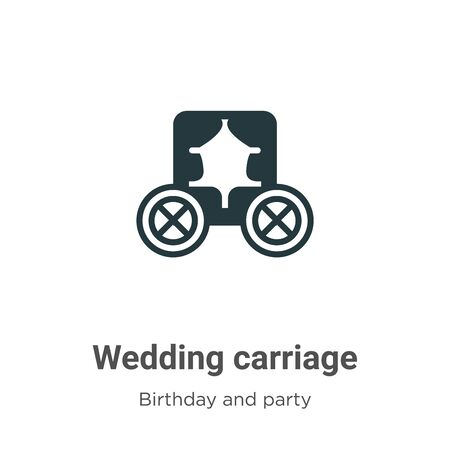 Wedding carriage vector icon on white background. Flat vector wedding carriage icon symbol sign from modern birthday and party collection for mobile concept and web apps design.