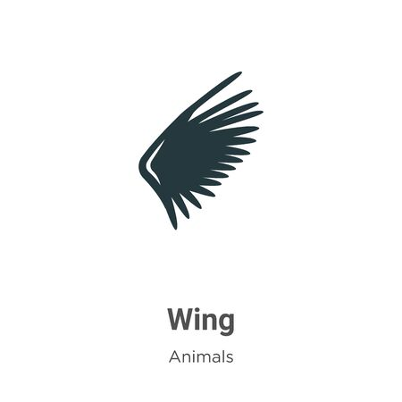 Wing vector icon on white background. Flat vector wing icon symbol sign from modern animals collection for mobile concept and web apps design.
