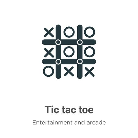 Tic tac toe vector icon on white background. Flat vector tic tac toe icon symbol sign from modern entertainment and arcade collection for mobile concept and web apps design.