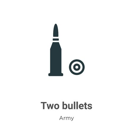 Two bullets vector icon on white background. Flat vector two bullets icon symbol sign from modern army collection for mobile concept and web apps design.