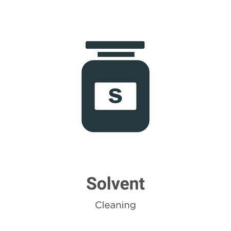 Solvent vector icon on white background. Flat vector solvent icon symbol sign from modern cleaning collection for mobile concept and web apps design.