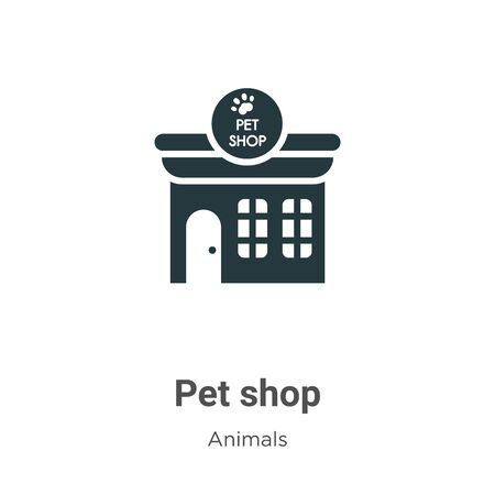 Pet shop vector icon on white background. Flat vector pet shop icon symbol sign from modern animals collection for mobile concept and web apps design. Archivio Fotografico - 142529407