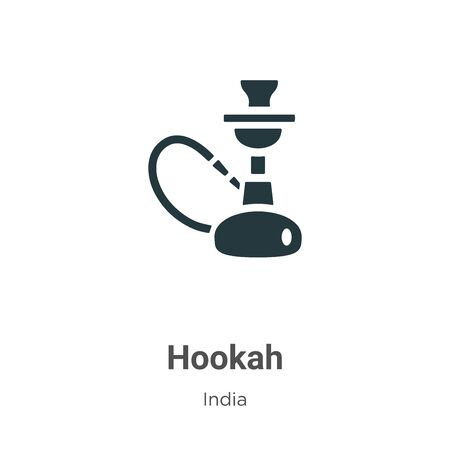 Hookah vector icon on white background. Flat vector hookah icon symbol sign from modern india collection for mobile concept and web apps design. Imagens - 142529417