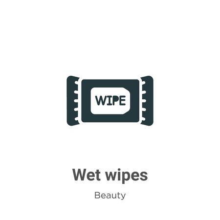 Wet wipes vector icon on white background. Flat vector wet wipes icon symbol sign from modern beauty collection for mobile concept and web apps design. Vettoriali
