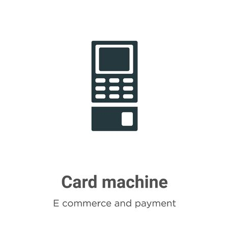 Card machine vector icon on white background. Flat vector card machine icon symbol sign from modern e commerce and payment collection for mobile concept and web apps design. Archivio Fotografico - 142529461
