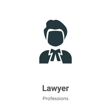 Lawyer vector icon on white background. Flat vector lawyer icon symbol sign from modern professions collection for mobile concept and web apps design. Archivio Fotografico - 142529493