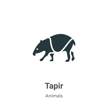 Tapir vector icon on white background. Flat vector tapir icon symbol sign from modern animals collection for mobile concept and web apps design. Archivio Fotografico - 142529498