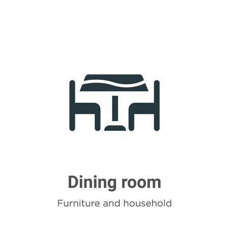 Dining room vector icon on white background. Flat vector dining room icon symbol sign from modern furniture and household collection for mobile concept and web apps design.