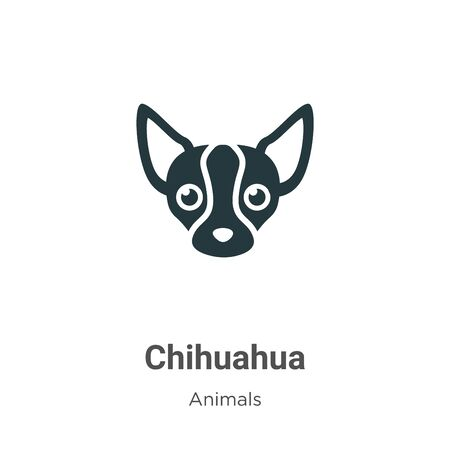 Chihuahua vector icon on white background. Flat vector chihuahua icon symbol sign from modern animals collection for mobile concept and web apps design. Archivio Fotografico - 142529514