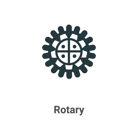 Rotary vector icon on white background. Flat vector rotary icon symbol sign from modern sew collection for mobile concept and web apps design. Vettoriali
