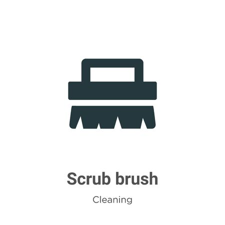 Scrub brush vector icon on white background. Flat vector scrub brush icon symbol sign from modern cleaning collection for mobile concept and web apps design. Archivio Fotografico - 142529555