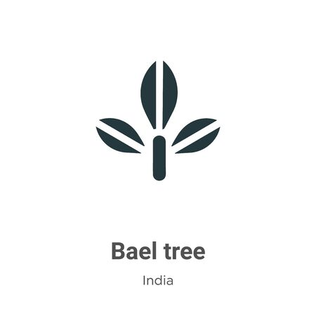 Bael tree vector icon on white background. Flat vector bael tree icon symbol sign from modern india collection for mobile concept and web apps design.