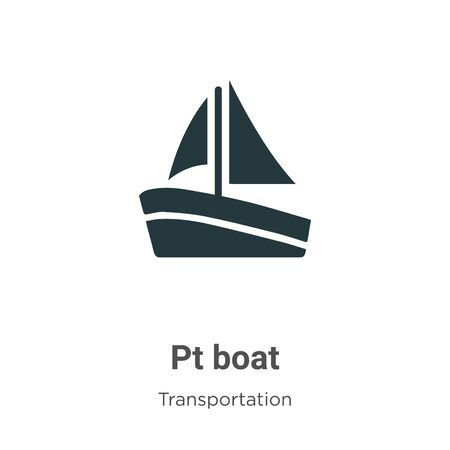 Pt boat vector icon on white background. Flat vector pt boat icon symbol sign from modern transportation collection for mobile concept and web apps design. Archivio Fotografico - 142529557