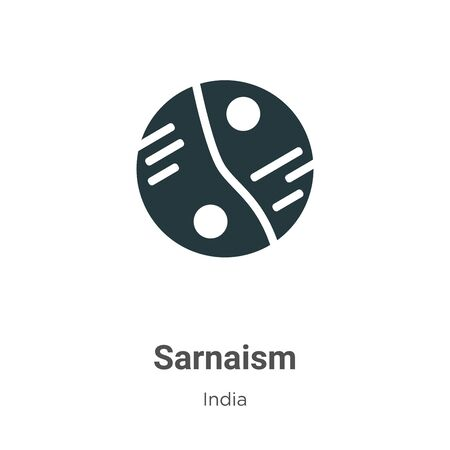 Sarnaism vector icon on white background. Flat vector sarnaism icon symbol sign from modern india collection for mobile concept and web apps design. Vettoriali