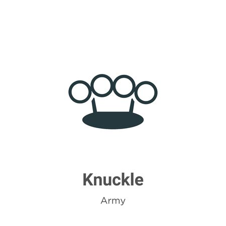 Knuckle vector icon on white background. Flat vector knuckle icon symbol sign from modern army collection for mobile concept and web apps design. Vettoriali