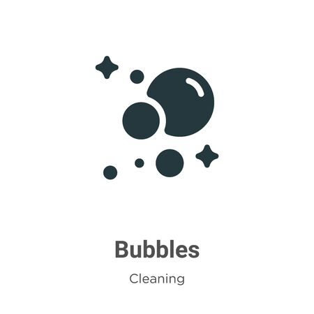 Bubbles vector icon on white background. Flat vector bubbles icon symbol sign from modern cleaning collection for mobile concept and web apps design.