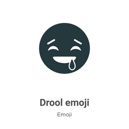 Drool emoji vector icon on white background. Flat vector drool emoji icon symbol sign from modern emoji collection for mobile concept and web apps design. Imagens - 142529587