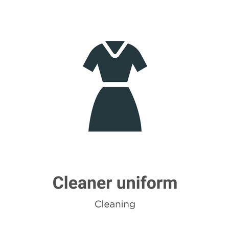 Cleaner uniform vector icon on white background. Flat vector cleaner uniform icon symbol sign from modern cleaning collection for mobile concept and web apps design. Vettoriali