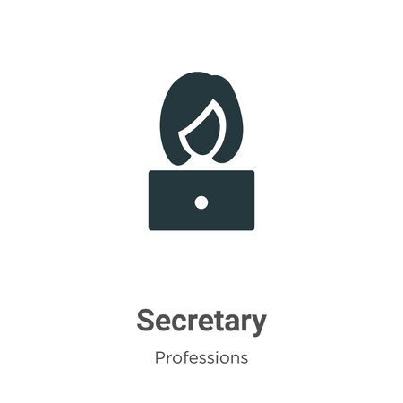 Secretary vector icon on white background. Flat vector secretary icon symbol sign from modern professions collection for mobile concept and web apps design.