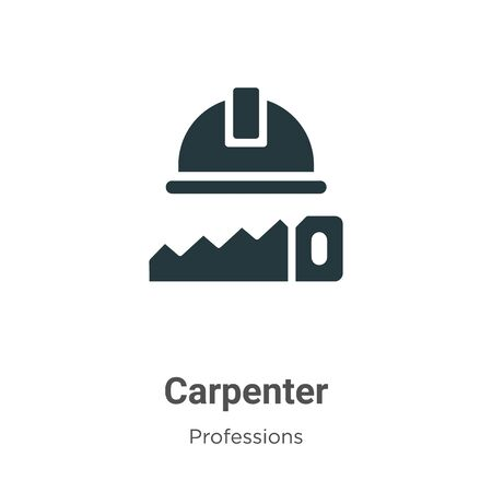 Carpenter vector icon on white background. Flat vector carpenter icon symbol sign from modern professions collection for mobile concept and web apps design. Archivio Fotografico - 142529592