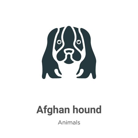 Afghan hound vector icon on white background. Flat vector afghan hound icon symbol sign from modern animals collection for mobile concept and web apps design.
