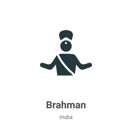 Brahman vector icon on white background. Flat vector brahman icon symbol sign from modern india collection for mobile concept and web apps design. Imagens - 142529601