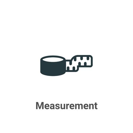 Measurement vector icon on white background. Flat vector measurement icon symbol sign from modern sew collection for mobile concept and web apps design. Vettoriali