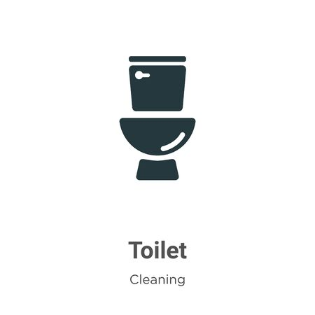 Toilet vector icon on white background. Flat vector toilet icon symbol sign from modern cleaning collection for mobile concept and web apps design. Archivio Fotografico - 142529607