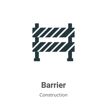 Barrier vector icon on white background. Flat vector barrier icon symbol sign from modern construction collection for mobile concept and web apps design. Imagens - 142529628