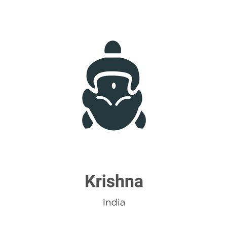 Krishna vector icon on white background. Flat vector krishna icon symbol sign from modern india collection for mobile concept and web apps design. Imagens - 142529649