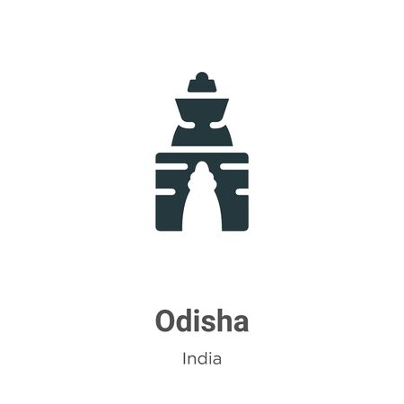 Odisha vector icon on white background. Flat vector odisha icon symbol sign from modern india collection for mobile concept and web apps design.
