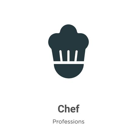 Chef vector icon on white background. Flat vector chef icon symbol sign from modern professions collection for mobile concept and web apps design. Archivio Fotografico - 142529658