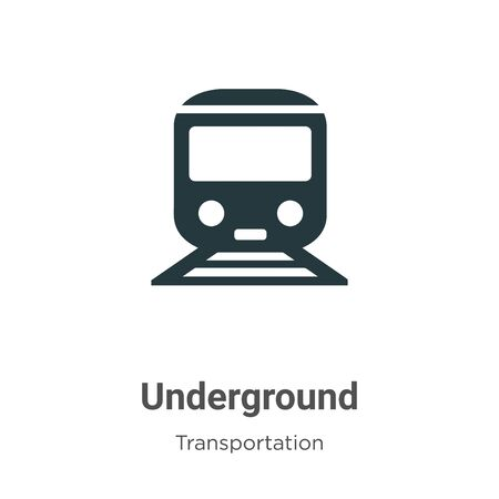 Underground vector icon on white background. Flat vector underground icon symbol sign from modern transportation collection for mobile concept and web apps design.