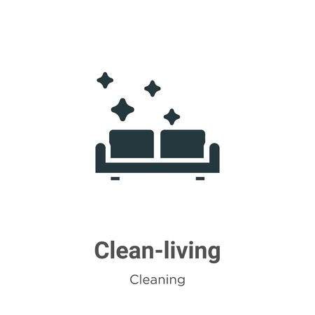 Clean-living vector icon on white background. Flat vector clean-living icon symbol sign from modern cleaning collection for mobile concept and web apps design. Archivio Fotografico - 142529697