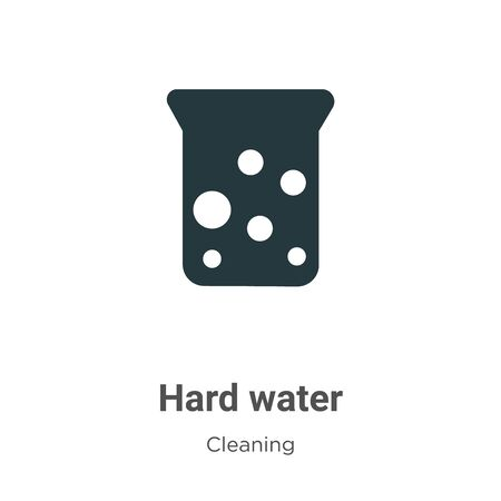 Hard water vector icon on white background. Flat vector hard water icon symbol sign from modern cleaning collection for mobile concept and web apps design. Archivio Fotografico - 142529700
