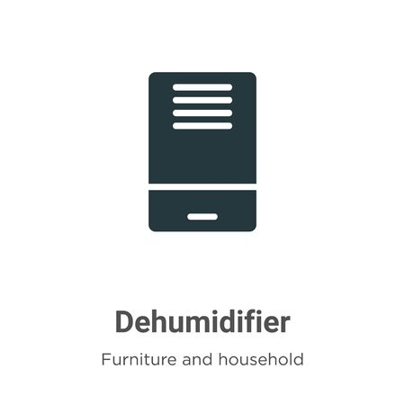 Dehumidifier vector icon on white background. Flat vector dehumidifier icon symbol sign from modern furniture and household collection for mobile concept and web apps design. Illustration