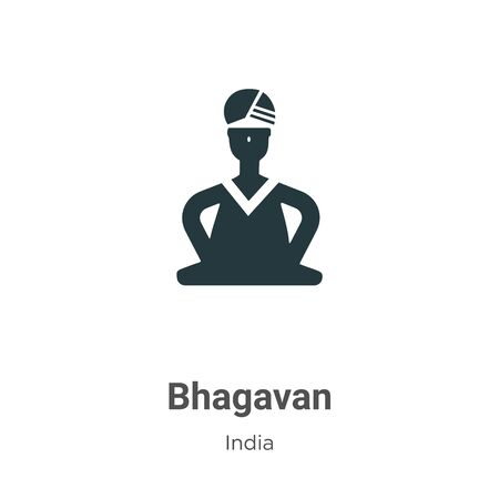 Bhagavan vector icon on white background. Flat vector bhagavan icon symbol sign from modern india collection for mobile concept and web apps design. Archivio Fotografico - 142529705